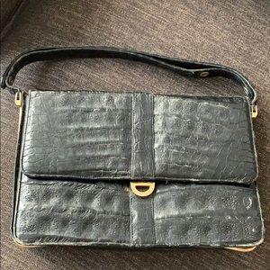 Handbags - Genuine crocodile skin vintage bag, made in Paris
